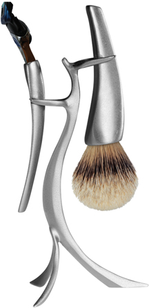 eShave.com Shaving Stand and Brush